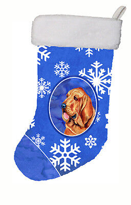 Bloodhound Winter Snowflakes Snowflakes Holiday Christmas Stocking