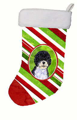 Portuguese Water Dog Winter Snowflakes Christmas Stocking SS4559