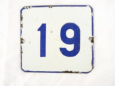 Vintage enamelled plate for your home number 19