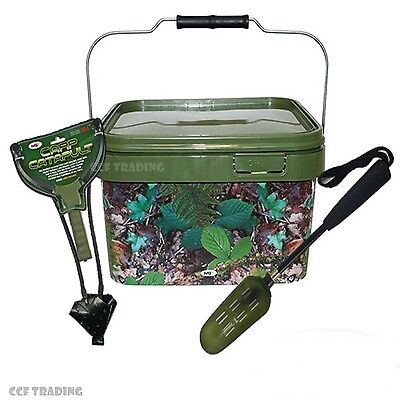 Baiting Spoon With Catapult & Bait Bucket Carp Fishing Tackle Ngt