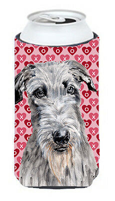 Scottish Deerhound Hearts and Love Tall Boy Beverage Insulator Hugger