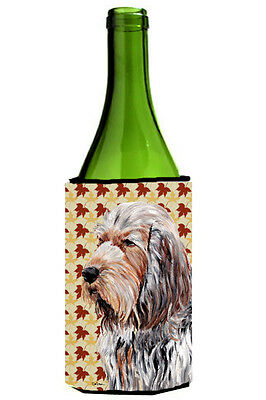 Otterhound Fall Leaves Wine Bottle Beverage Insulator Hugger