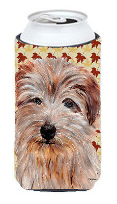 Norfolk Terrier Fall Leaves Tall Boy Beverage Insulator Hugger