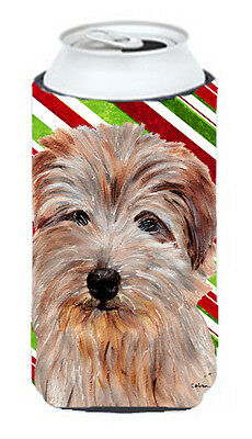 Norfolk Terrier Candy Cane Christmas Tall Boy Beverage Insulator Hugger