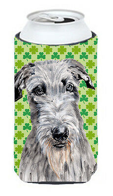 Scottish Deerhound Lucky Shamrock St. Patrick's Day Tall Boy Beverage Insulator