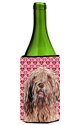 Otterhound Hearts and Love Wine Bottle Beverage Insulator Hugger