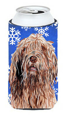 Otterhound Winter Snowflakes Tall Boy Beverage Insulator Hugger