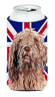 Otterhound with English Union Jack British Flag Tall Boy Beverage Insulator Hugg