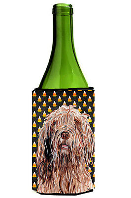 Otterhound Candy Corn Halloween Wine Bottle Beverage Insulator Hugger