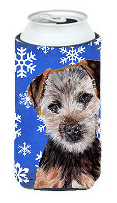 Norfolk Terrier Puppy Winter Snowflakes Tall Boy Beverage Insulator Hugger