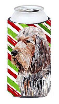 Otterhound Candy Cane Christmas Tall Boy Beverage Insulator Hugger