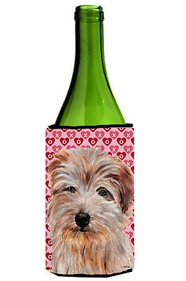 Norfolk Terrier Hearts and Love Wine Bottle Beverage Insulator Hugger