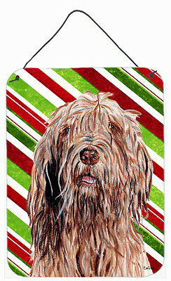 Otterhound Candy Cane Christmas Wall or Door Hanging Prints