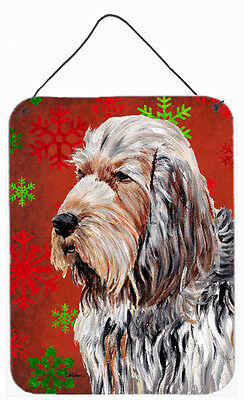 Otterhound Red Snowflakes Holiday Wall or Door Hanging Prints
