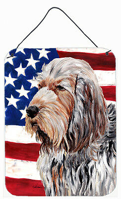 Otterhound with American Flag USA Wall or Door Hanging Prints