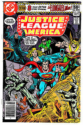 JUSTICE LEAGUE OF AMERICA #182 (NM-) Dave Cockrum Cover! DC Bronze-Age 1980