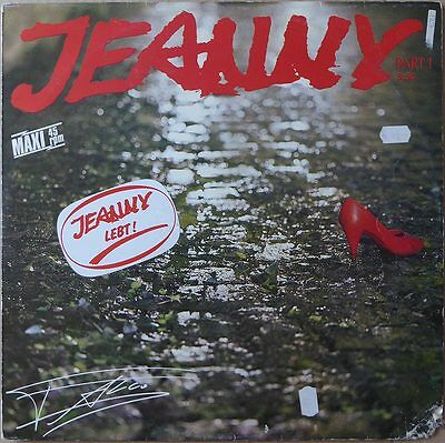 "12"" Falco - Jeanny (Part 1) - DE 1985 -  VG+(+) to VG++"
