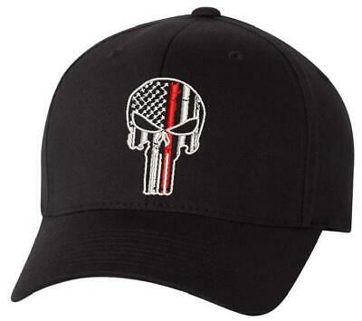 Thin Red Line Punisher Flex or Adjustable Hat, Various Sizes Free Shipping