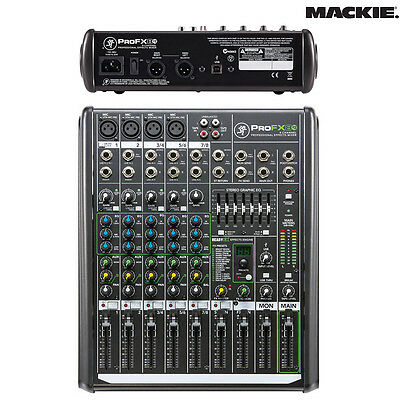 Mackie ProFX8v2 8-Channel Effects Mixer w/ Built-In FX NEW l Authorized Dealer
