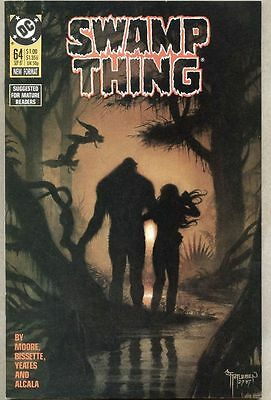 Swamp Thing #64-1987 nm- Stephen Bissette last Alan Moore issue