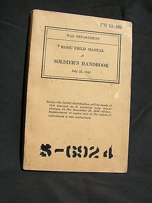Vintage Old 1941 Military Army Soldier's Field Book