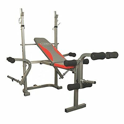 HMS Weight Lifting Bench ls7838, – Silver Black Red, taglia unica, (J5g)
