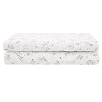NEW Sheridan Baby Shayla Flat Cot Sheet Grey