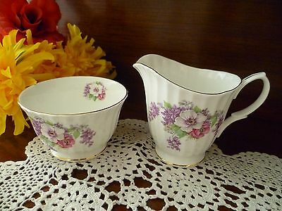Floral Tea Set  Size Milk Jug And Sugar Bowl Duchess Bone China England