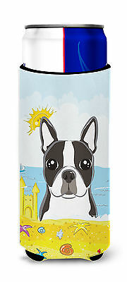 Boston Terrier Summer Beach Michelob Ultra Koozies for slim cans