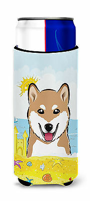 Shiba Inu Summer Beach Michelob Ultra beverage Insulator for slim cans