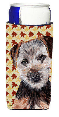 Norfolk Terrier Puppy Fall Leaves Ultra Beverage Insulators for slim cans