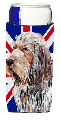 Otterhound with English Union Jack British Flag Ultra Beverage Insulators for sl