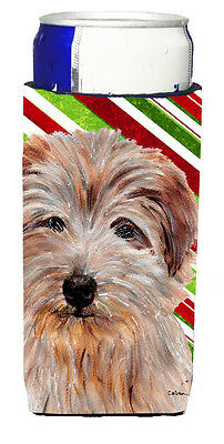 Norfolk Terrier Candy Cane Christmas Ultra Beverage Insulators for slim cans