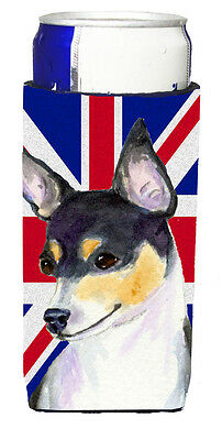 Rat Terrier with English Union Jack British Flag Ultra Beverage Insulators for s