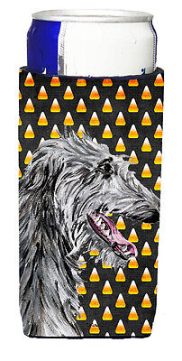 Scottish Deerhound Candy Corn Halloween Ultra Beverage Insulators for slim cans