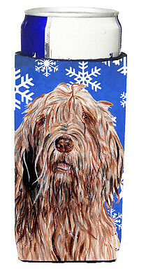 Otterhound Winter Snowflakes Ultra Beverage Insulators for slim cans
