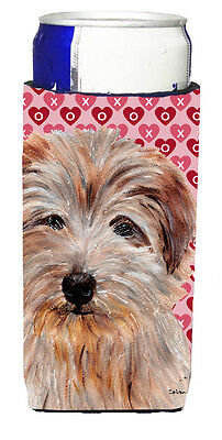 Norfolk Terrier Hearts and Love Ultra Beverage Insulators for slim cans