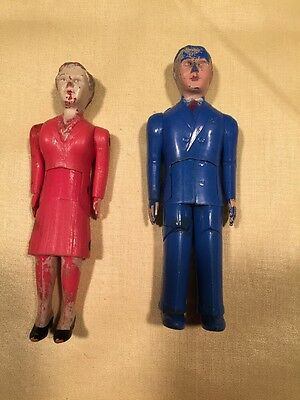 Vintage Renewal Dollhouse People/Dolls-Mother #43 & Father #44