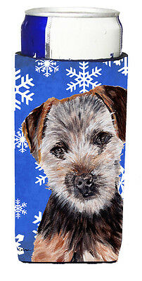Norfolk Terrier Puppy Winter Snowflakes Ultra Beverage Insulators for slim cans