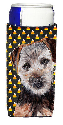 Norfolk Terrier Puppy Candy Corn Halloween Ultra Beverage Insulators for slim ca