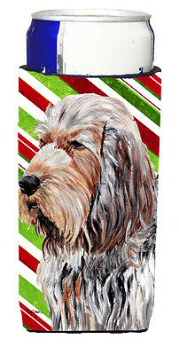 Otterhound Candy Cane Christmas Ultra Beverage Insulators for slim cans