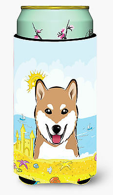 Shiba Inu Summer Beach Tall Boy beverage Insulator Hugger