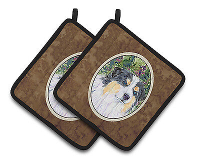 Carolines Treasures  SS8821PTHD Australian Shepherd Pair of Pot Holders