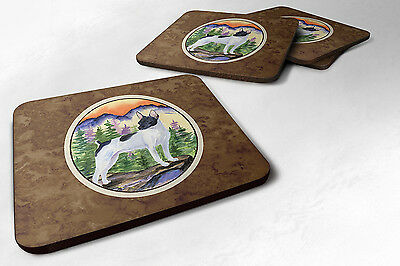 Carolines Treasures  SS8224FC Set of 4 Rat Terrier Foam Coasters