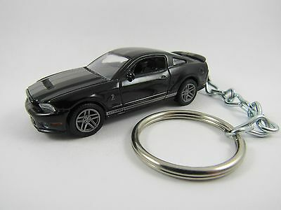 2010 FORD MUSTANG SHELBY GT500 Coupe Black Key FOB Keyring Keychain