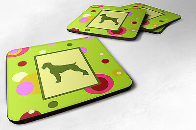 Carolines Treasures  CK1036FC Set of 4 German Wirehaired Pointer Foam Coasters