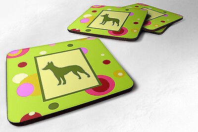 Carolines Treasures  CK1045FC Set of 4 Manchester Terrier Foam Coasters