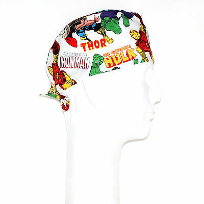 Marvel Comics Characters Theme Scrub Hat