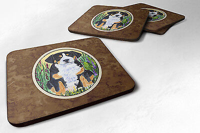 Carolines Treasures  SS8217FC Set of 4 Greater Swiss Mountain Dog Foam Coasters