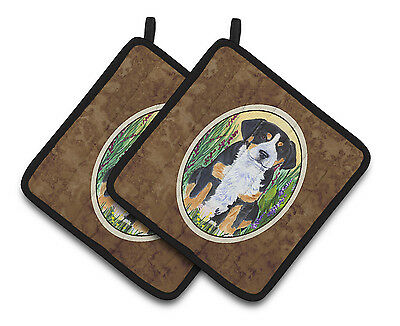 Carolines Treasures  SS8217PTHD Greater Swiss Mountain Dog Pair of Pot Holders